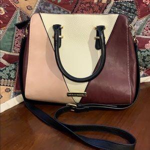 Steve Madden Pink, Burgundy and white handbag